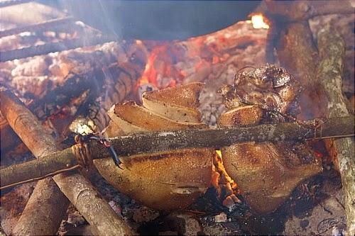 Thơm ngon thịt lợn cắp nách nướng