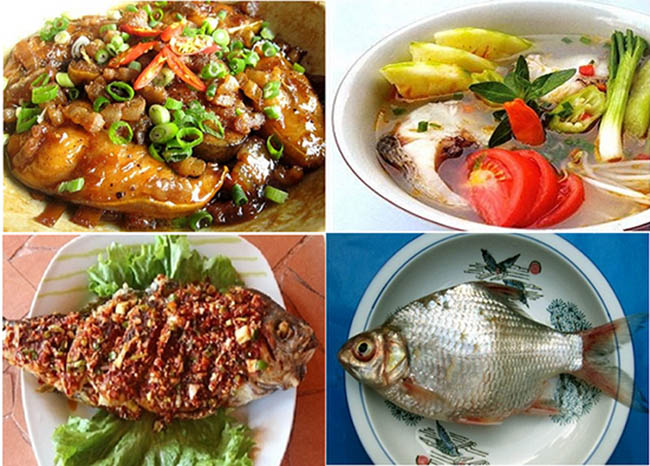 Món cá mè sông Mực vô cùng hấp dẫn